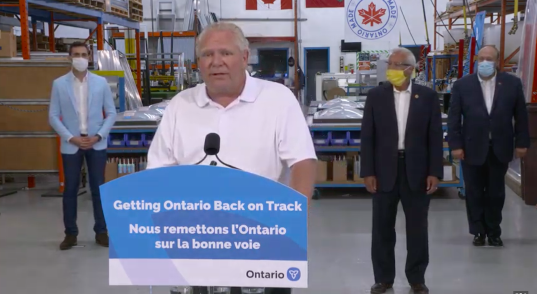 """Doug Ford urging people to buy """"made in Ontario"""" products"""