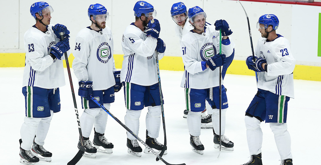 These were the Canucks lines on the first day of training camp