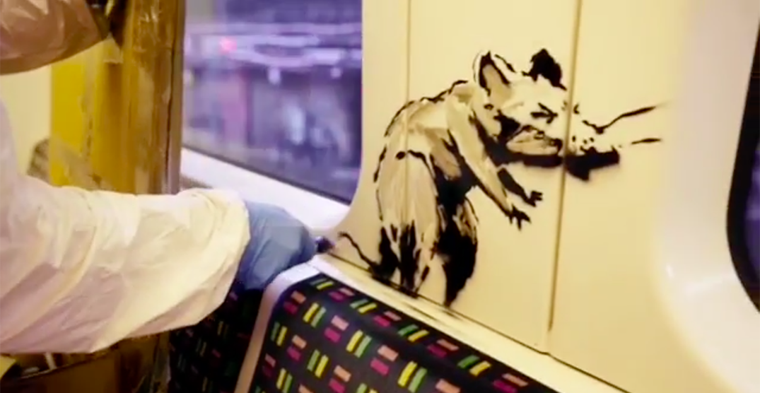 Banksy's latest work on London Underground gets washed away