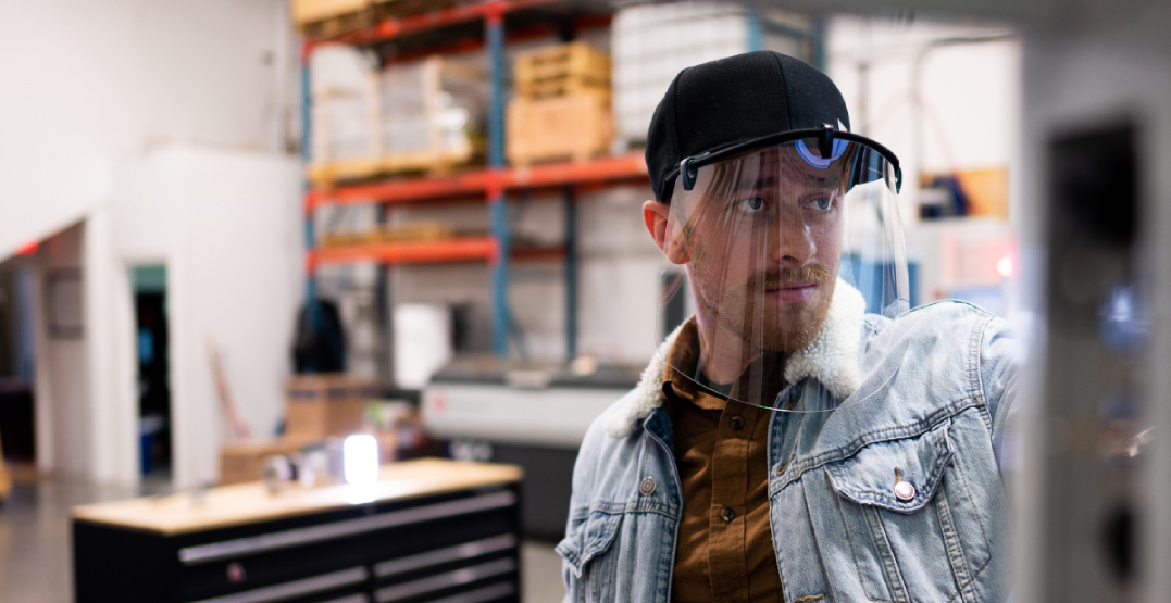 Canadian company creates face shield that clips to your baseball hat