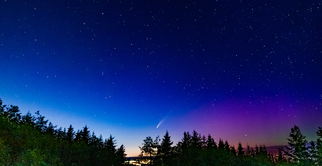 Both NEOWISE comet and aurora borealis were visible in Washington last night (PHOTO)