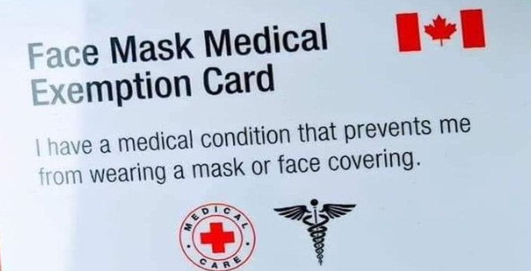 Public health units warn of fake face mask exemption cards circulating in Canada