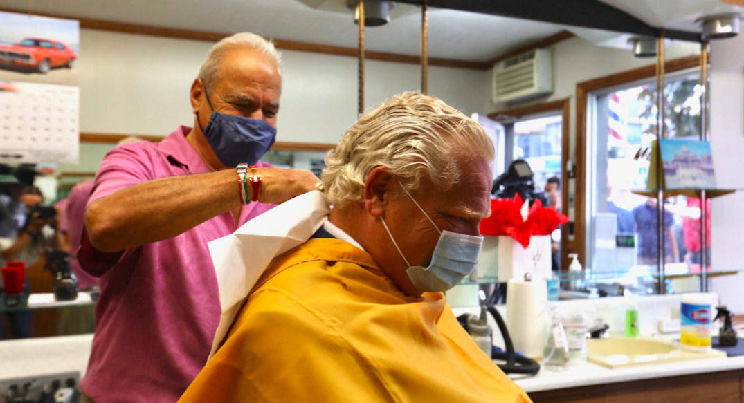 Ford gets haircut after promising to wait until entire province was in Stage 2