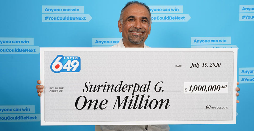 Surrey man wins $1 million in Canada Day lottery draw