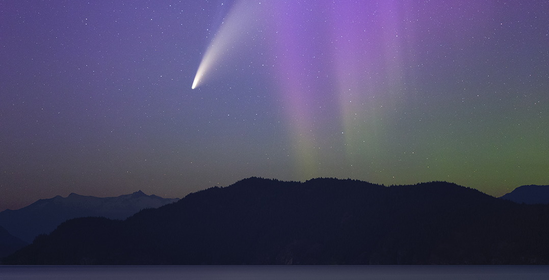 Once-in-a-lifetime photo captures NEOWISE comet and Northern Lights in BC