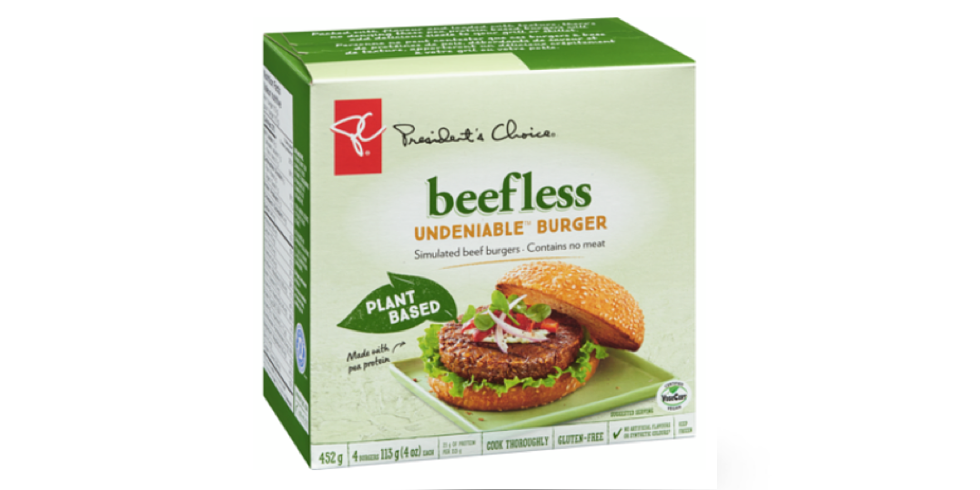 President's Choice vegan burger recalled due to presence of wood pieces