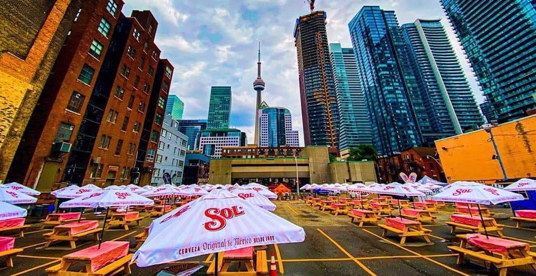 """Toronto's """"biggest"""" patio opens downtown with CN Tower views"""
