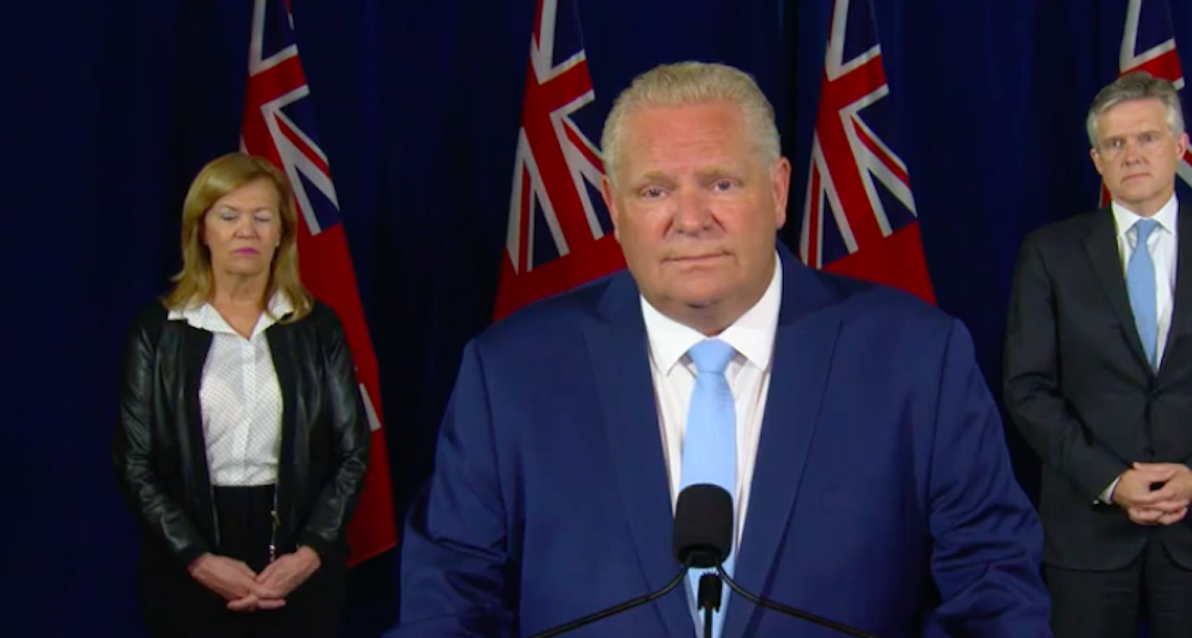 Doug Ford tells young people to think of loved ones before going to parties
