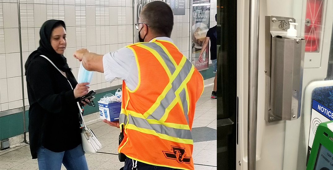 Here's where the TTC is handing out free face masks today