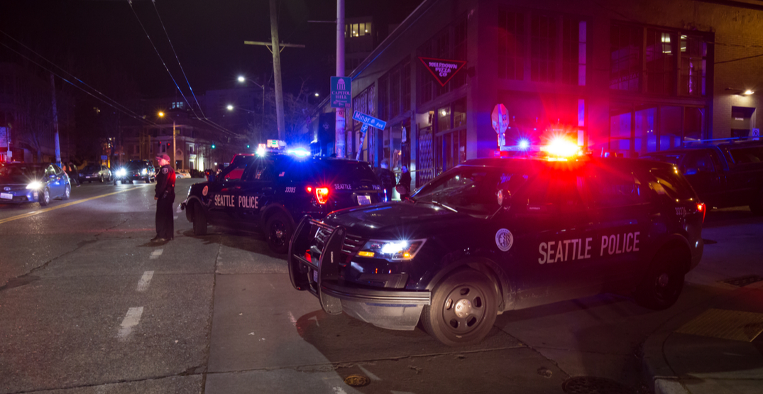 Eight arrests were made during demonstrations in Seattle on election night
