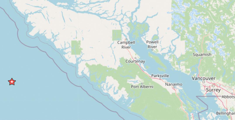 5.4 magnitude earthquake strikes off the coast of Vancouver Island