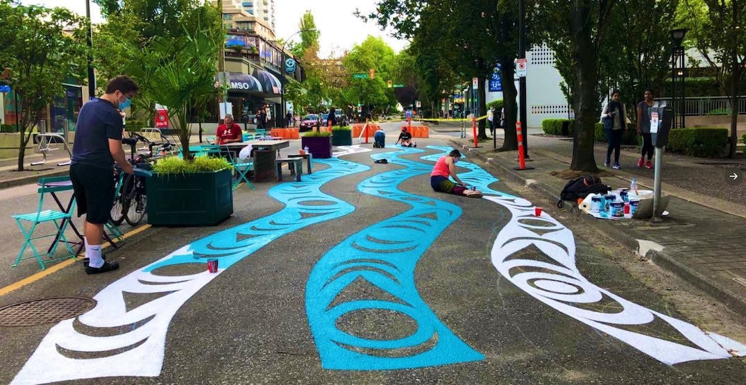 First Nations street mural coming to new Bute and Alberni pop-up plaza