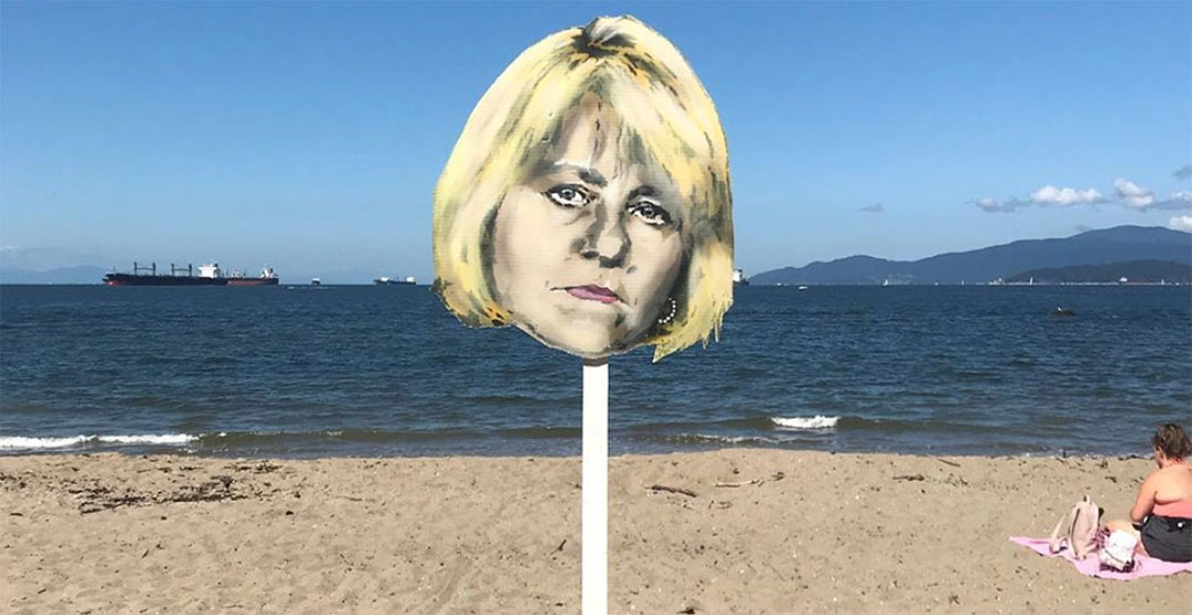 Street artist's new Dr. Bonnie Henry painting watches over Third Beach