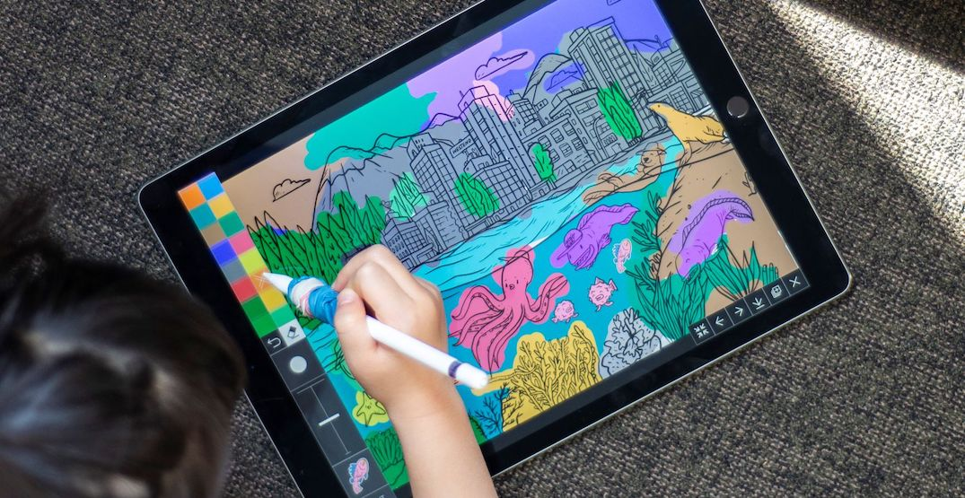 This new ocean-themed colouring app helps support the Vancouver Aquarium