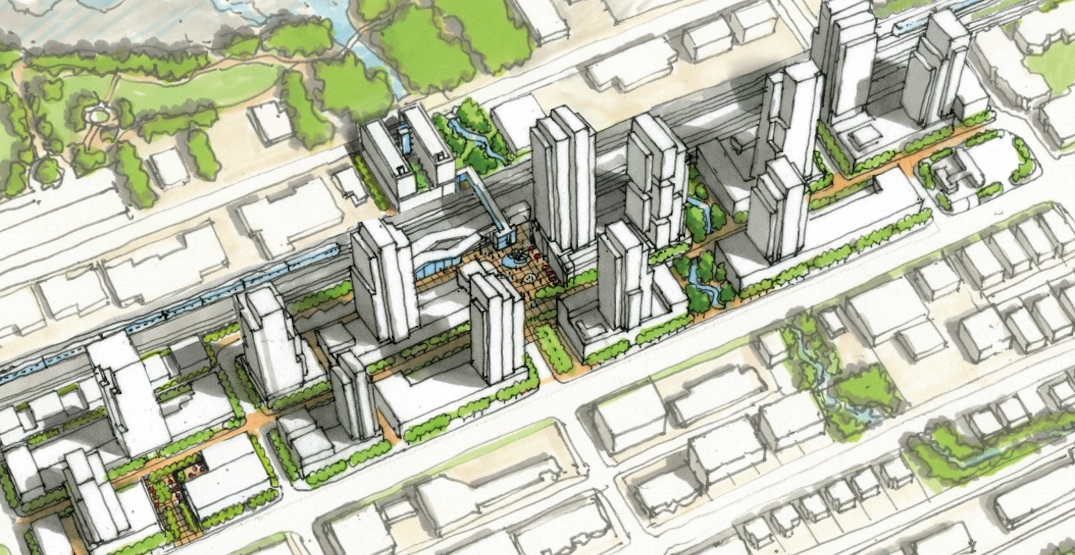 Massive redevelopment with 4,000 homes proposed for SkyTrain's Moody Centre Station