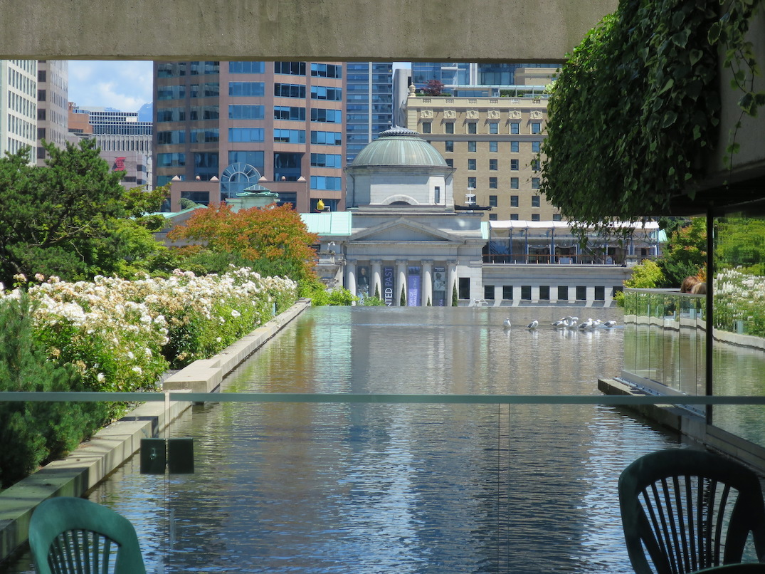 vancouver law courts reflecting pool pond