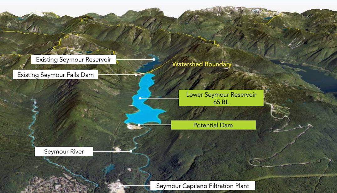 metro vancouver new water supply dams reservoirs