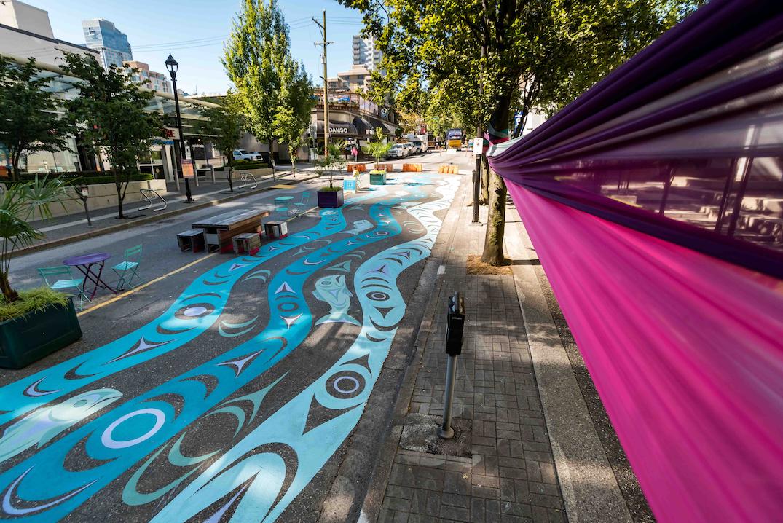 Alberni Bute Roadway Mural