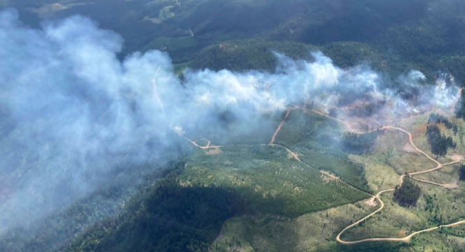 At least 99 wildfires have been sparked in BC since Friday morning