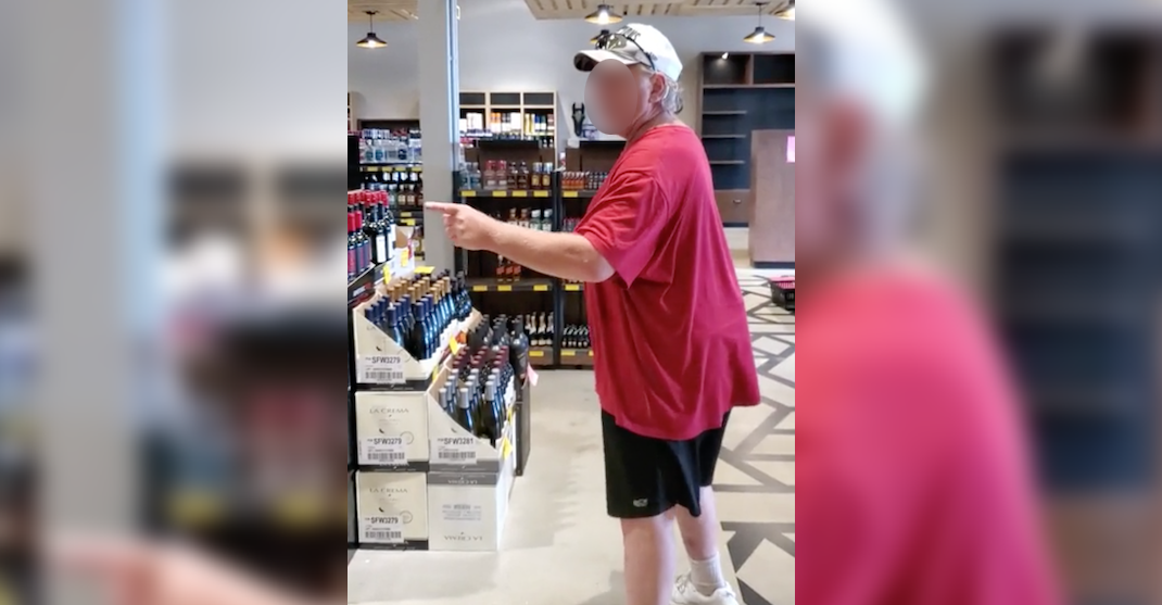 Man goes on racist rant in Canadian liquor store after refusing to wear a mask