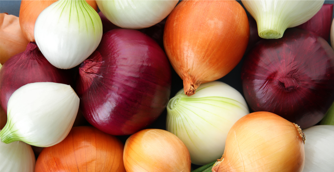 Updated list of the red, yellow, white, and sweet yellow onions recalled due to Salmonella