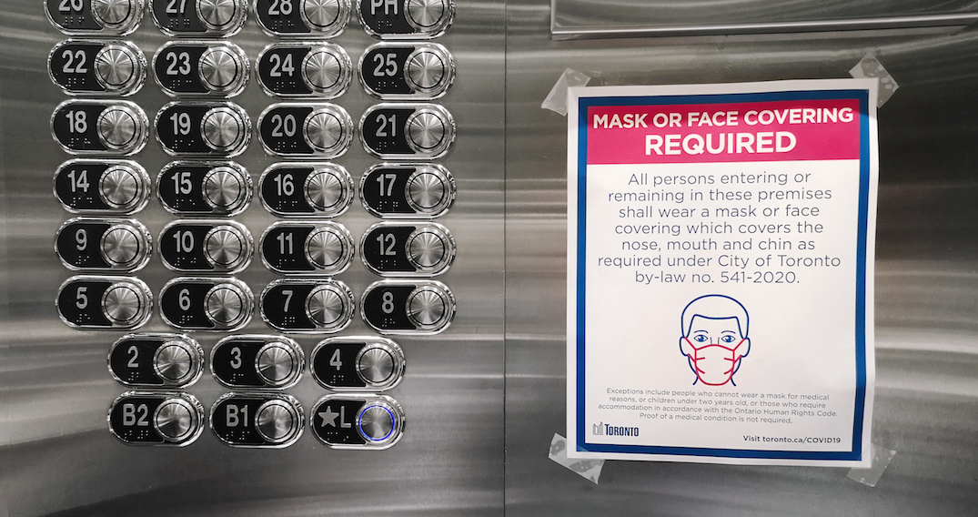 Face masks now mandatory in Toronto condos and apartments