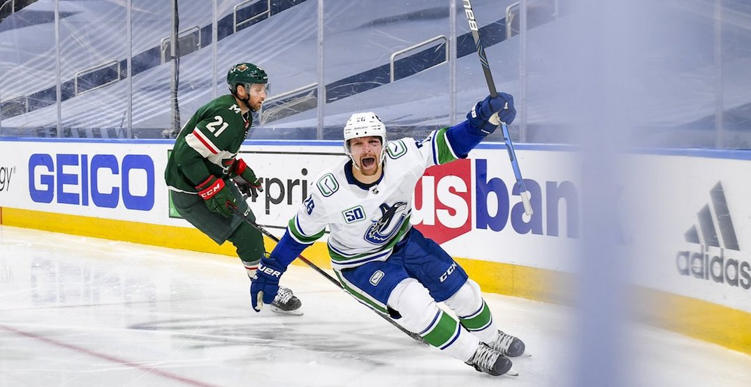 Canucks take series lead with shutout win over Wild