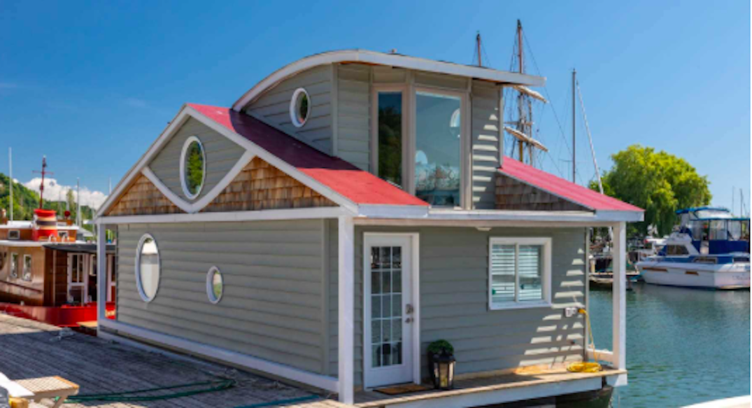 This cute boathouse is currently for sale in Toronto for under $350K