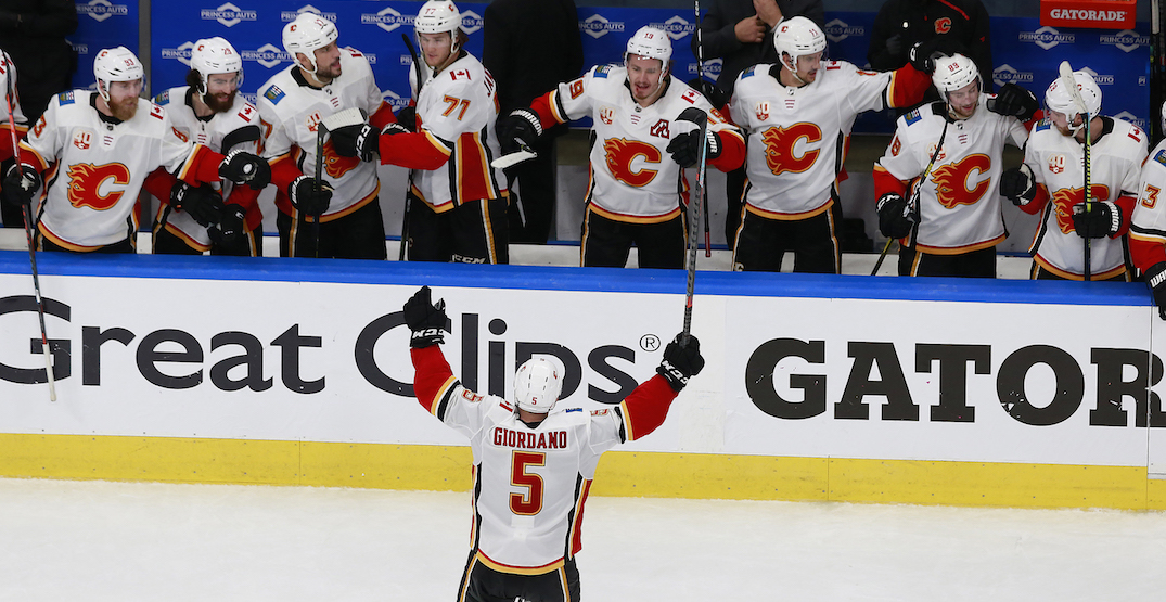 Flames captain Giordano earns playoff redemption with first series win