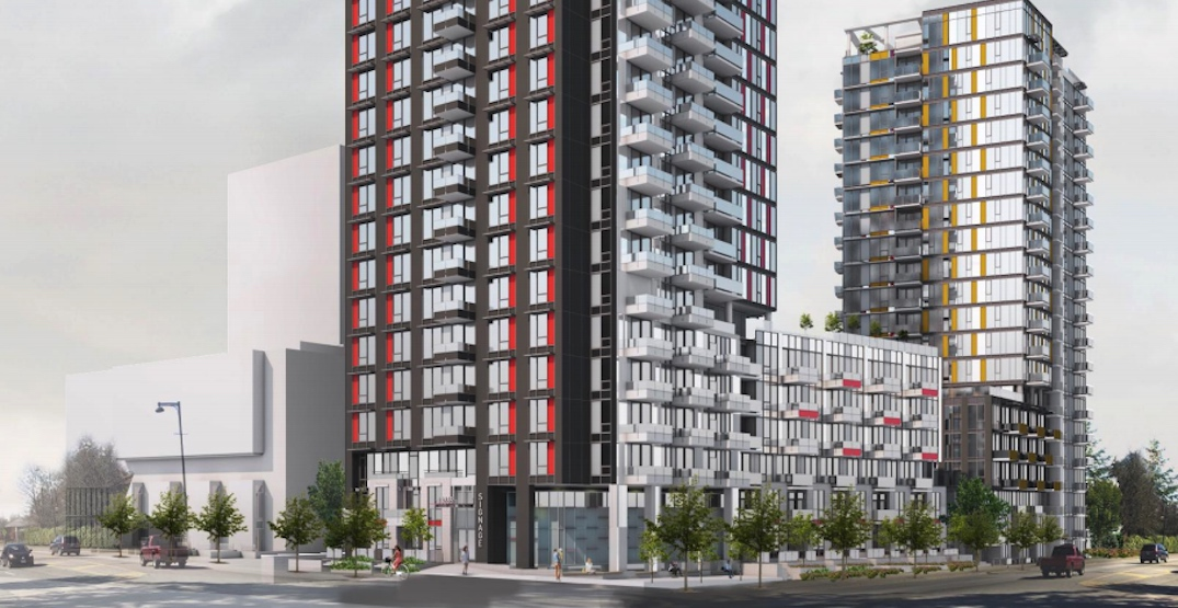 Two towers including 175 affordable rental homes planned for Surrey city centre