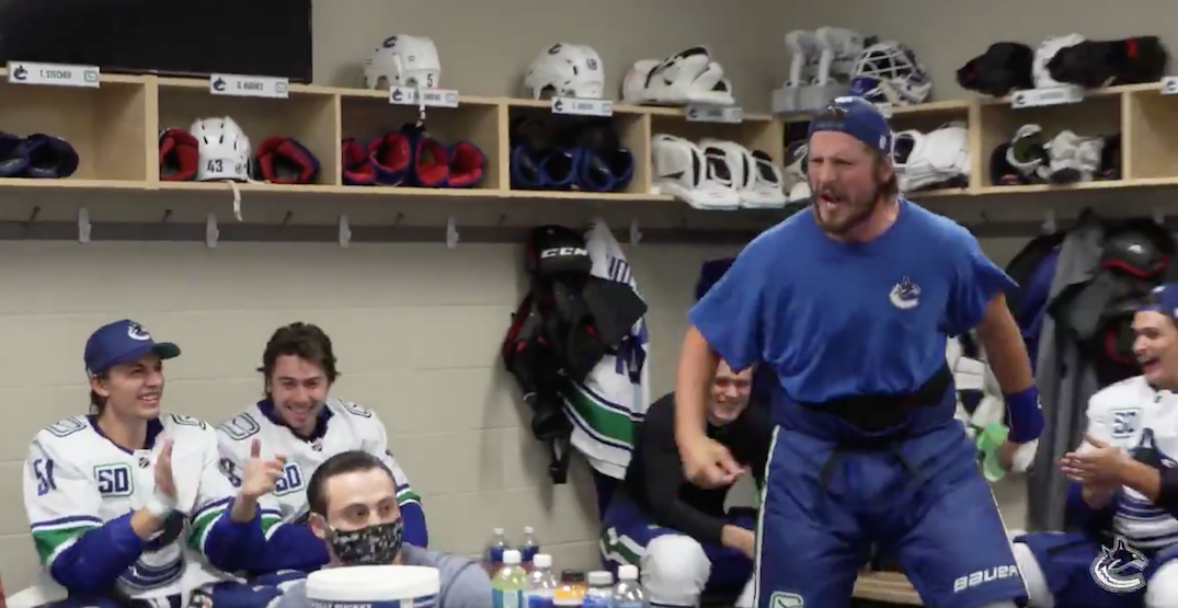 The story behind Miller's epic pre-game hype for Canucks teammates