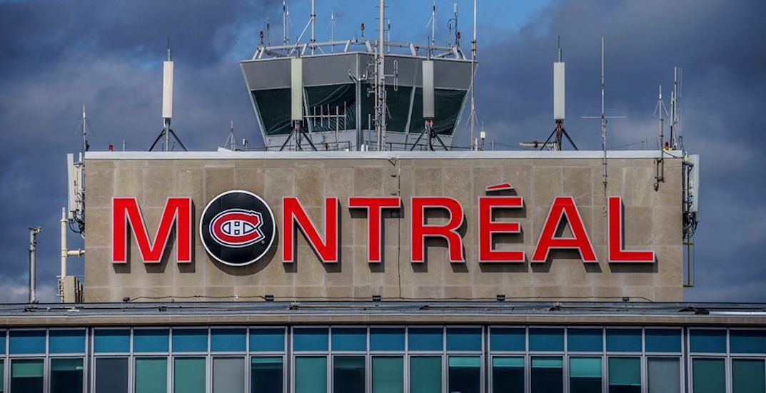 Trudeau airport adds Canadiens puck to sign for start of playoffs