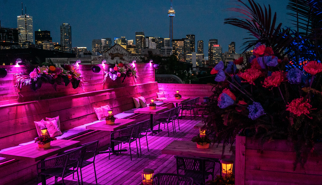 A scenic pop-up rooftop patio and urban oasis just opened in Toronto