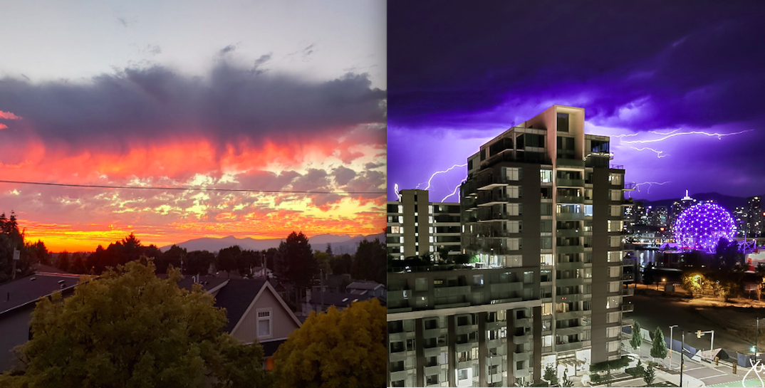 Vancouver sees dazzling sunset, epic lightning storm all in one night (PHOTOS)