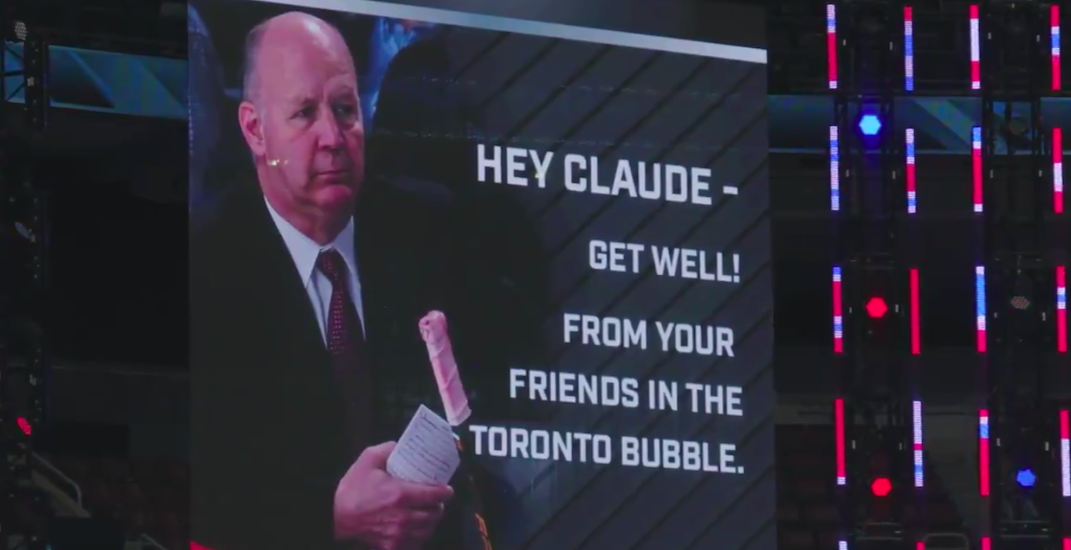 NHL sends Habs head coach heartwarming in-game get well message