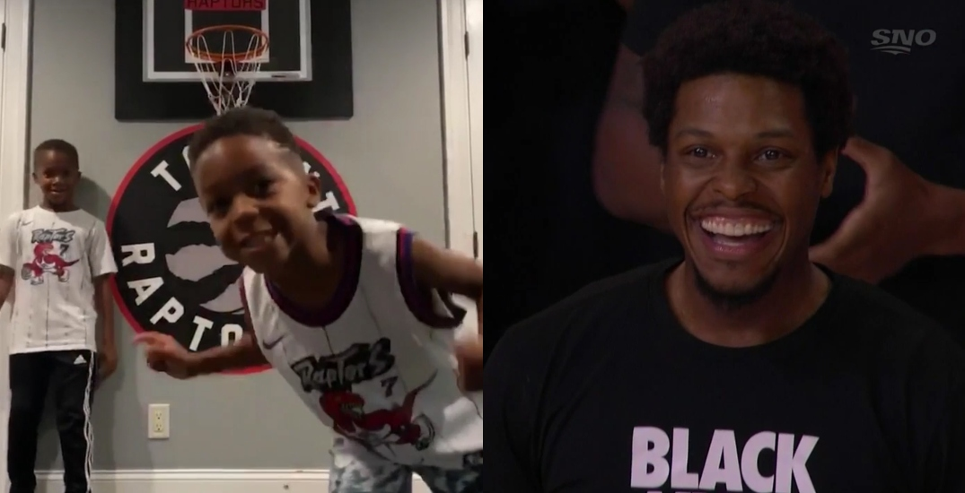 Kyle Lowry's kids steal the show during Raptors playoff intro (VIDEO)