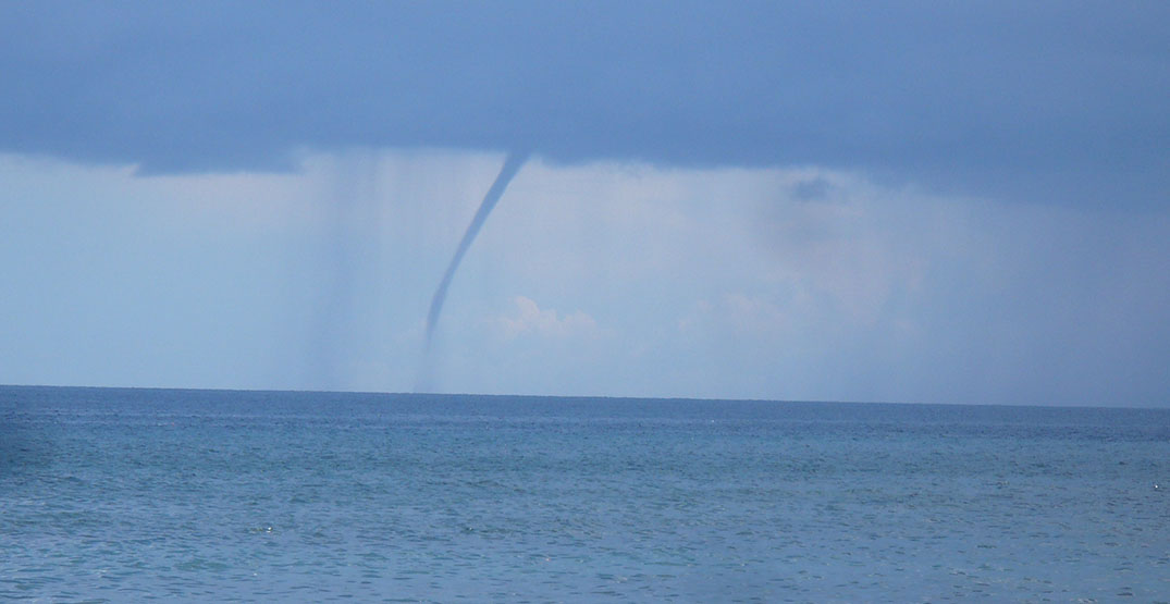 Waterspouts form over Ontario lakes and thrill local photographers
