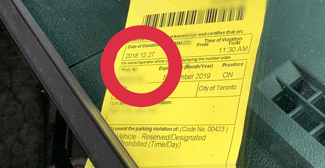 Using an old parking ticket won't avoid a new fine: TPS officer