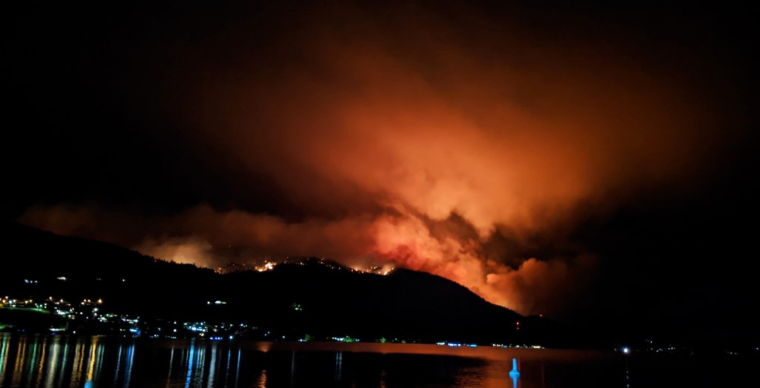 Thousands on evacuation alert as Christie Mountain wildfire grows