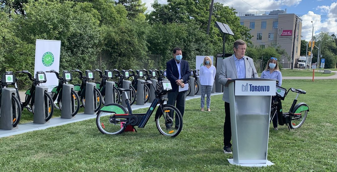 Hundreds of e-bikes now available in Toronto as part of pilot project