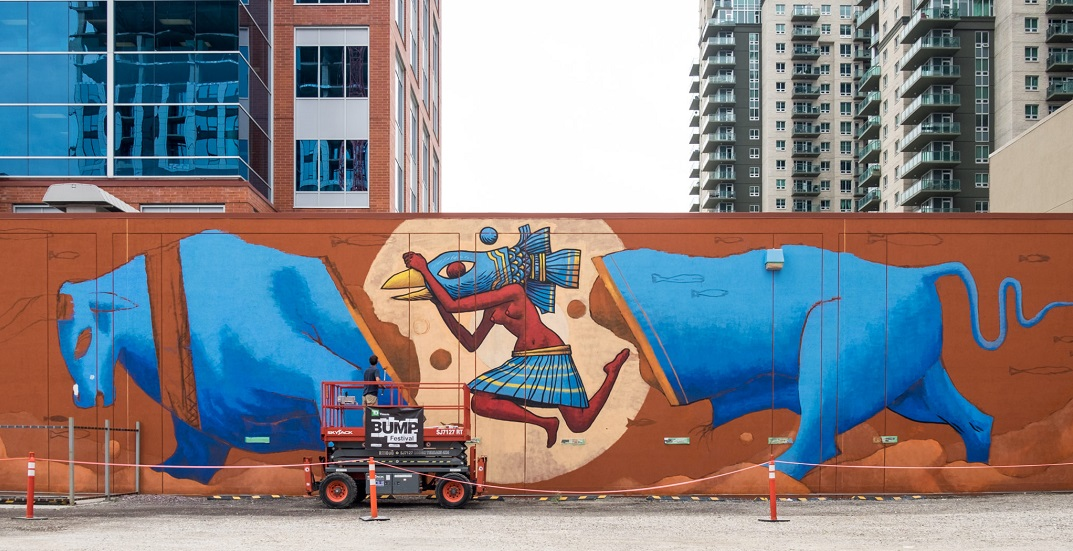 Check out these new murals around downtown Calgary this summer