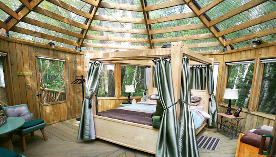 You can sleep under the stars indoors at this forest getaway near Toronto