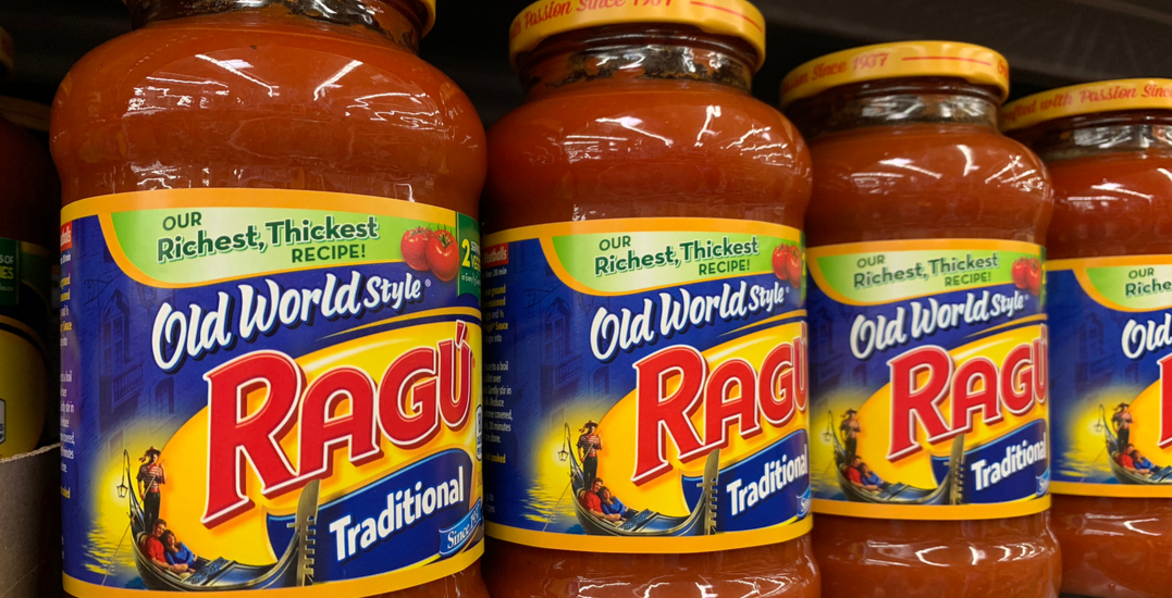Ragu brand is no longer selling its pasta sauce in Canada