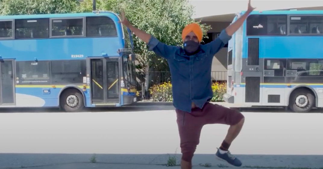 Bhangra dancer teams up with TransLink reminding people to wear masks on transit