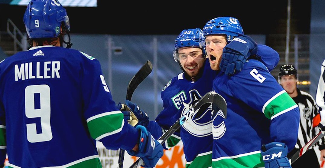 Canucks blow out Stanley Cup champion Blues to win the series
