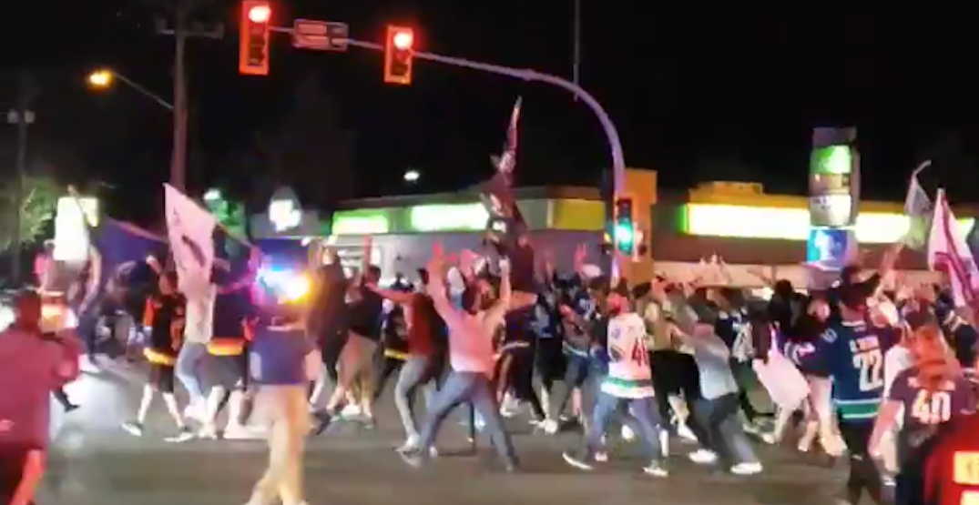 "Police ask Canucks fans to ""reconsider"" celebrating on Scott Road tonight"
