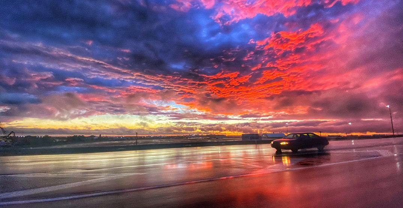 edmonton pink sunset car