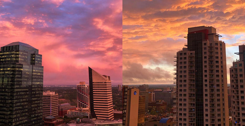 Edmontonians treated to stunningly colourful sunset (PHOTOS)