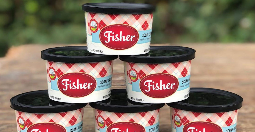 Fisher fair scones ice cream is now available in Washington supermarkets