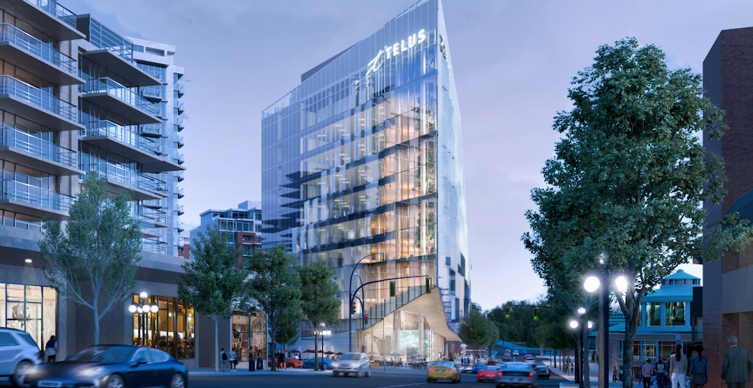 TELUS planning new ocean-themed flatiron office building in downtown Victoria